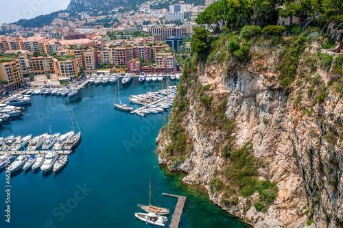 Marina and modern buildings in Monaco.