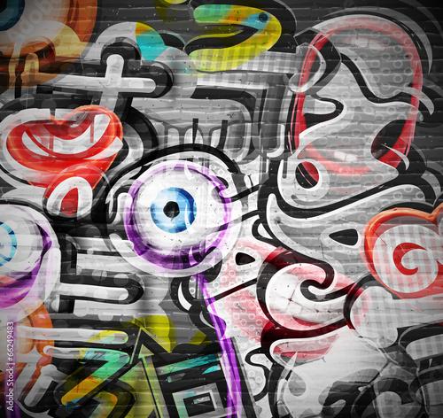 fototapeta na drzwi i meble Graffiti w tle