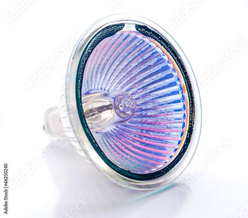 Obraz dichroic halogen lamp isolated on white - fototapety do salonu