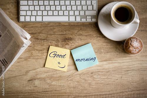 Láminas  Good morning