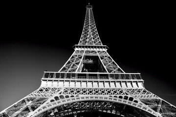 FototapetaEiffel Tower in artistic tone, black and white, Paris, France