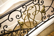 Wrought Iron Handrail In A French House