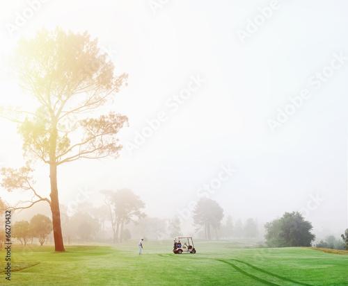 Deurstickers Golf golf course man