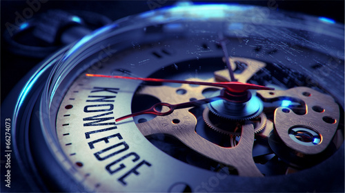Fotografie, Obraz  Knowledge on Pocket Watch Face. Time Concept.