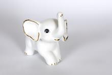 Small White Porcelain Elephant