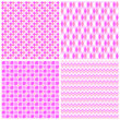 canvas print picture - Set of 4 geometrical patterns