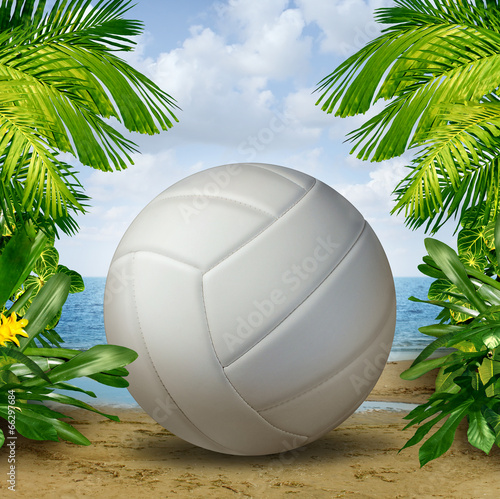 Canvastavla  Beach Volleyball