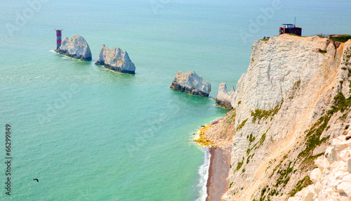 Obraz na płótnie The Needles Isle of Wight landmark by Alum Bay