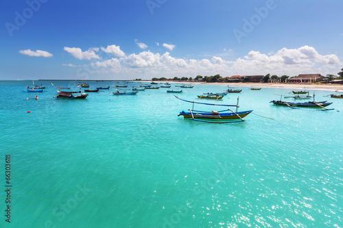Foto op Aluminium Bali Boat in Indonesia