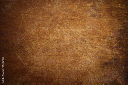 Fotografie, Obraz  Old grunge wooden cutting kitchen board background