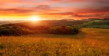 Beautiful Sunset On The Field ...