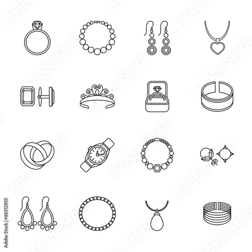 Foto Jewelry icon outline