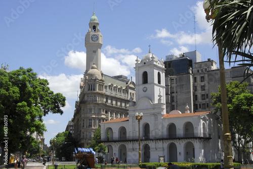 Spoed Foto op Canvas Buenos Aires Cabildo y Consejo deliberante de la ciudad de Buenos Aires