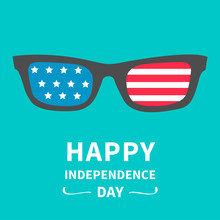 Glasses With Flag. Happy Indep...