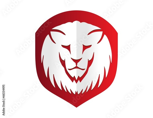 Lion Logo Lion Head Icon Shield Emblem Cat Carnivore Symbol Vector