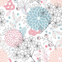 FototapetaSeamless floral pattern