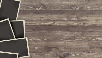Fototapeta Blank Photo frame on wooden background