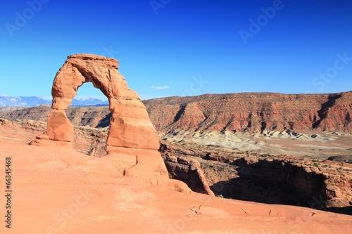 Fotobehang Natuur Park Arches National Park - Delicate Arch