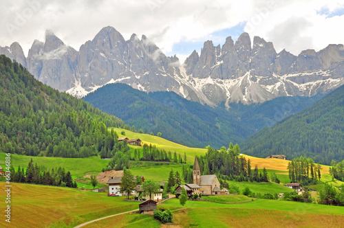 Fotografie, Obraz  Funes, Bolzano. Amazing landscape in Dolomites