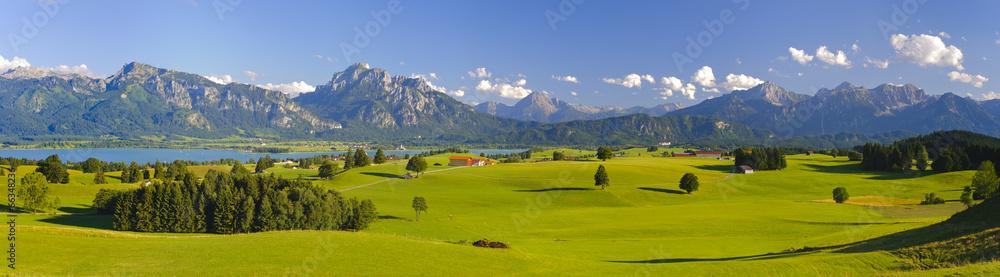 Fototapeta Panorama Landschaft in Bayern