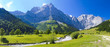 canvas print picture - Panorama Landschaft in Bayern