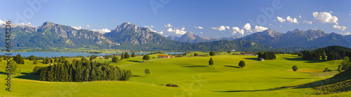 Door stickers Panorama Photos Panorama Landschaft in Bayern