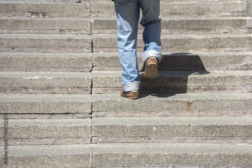 Foto op Canvas Trappen Climbing up stairs