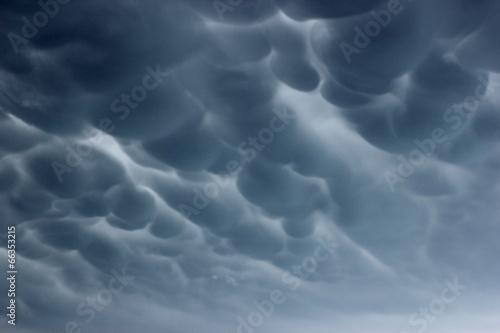 Foto  Mammatuswolken über Nordhessen