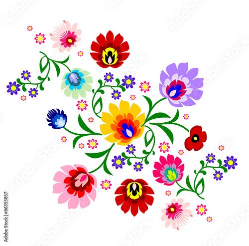 16feec9e Traditional Polish floral folk pattern vector #74966908 - Folk ...