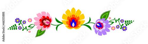 fototapeta na ścianę Tradycyjny polski ludowy wzór kwiatowy wektor