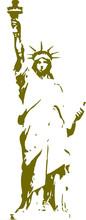Statue Of Liberty Vector Clipart Design