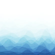 canvas print picture - Abstract blue wave background