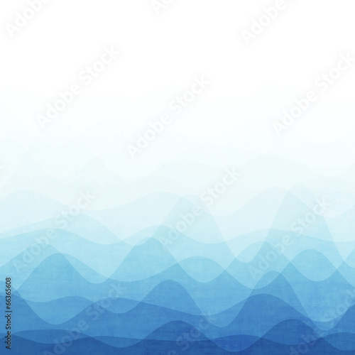 Fotobehang - Abstract blue wave background