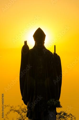 Obraz na płótnie Pope Statue Silhouette
