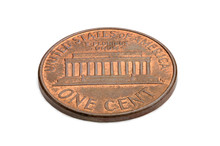 U.S. One Cent Coin Isolated On...