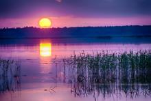 Sunset Over Kanieris Lake