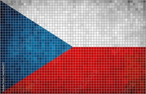 Fotomural Flag of Czech - mosaic