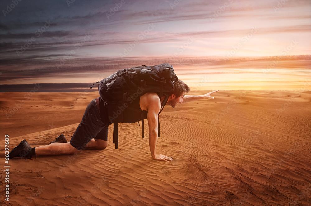Fototapety, obrazy: Exhausted Wanderer