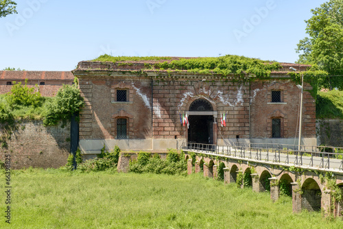 monumental entrance of Cittadella fortifications, Alessandria, I Canvas Print