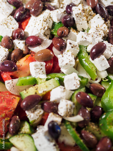 Spoed Foto op Canvas Voorgerecht Fresh Greek salad at the restaurant