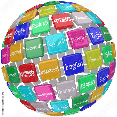 Fotografía  Language Tiles Globe Words Learning Foreign International Transl