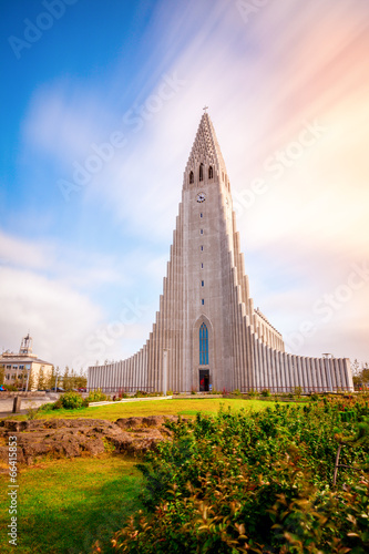 Fotografering  Hallgrimskirkja church