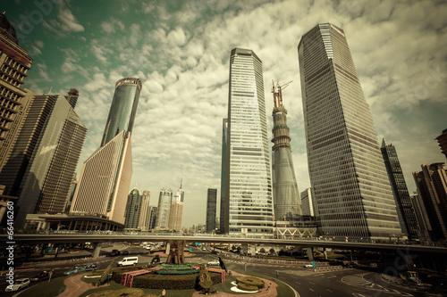 Foto op Plexiglas China Shanghai Urban Construction, Pudong