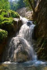 Fototapeta Wodospad Forest waterfall Eravan, Thailand