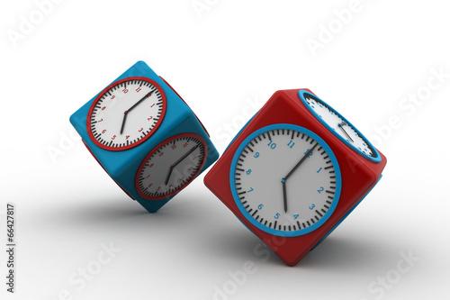 Fotografie, Obraz  3d watch in cube