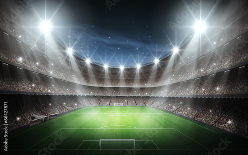 Spoed Foto op Canvas Stadion Light of Stadium