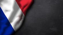 Französische Flagge Auf Schiefertafel