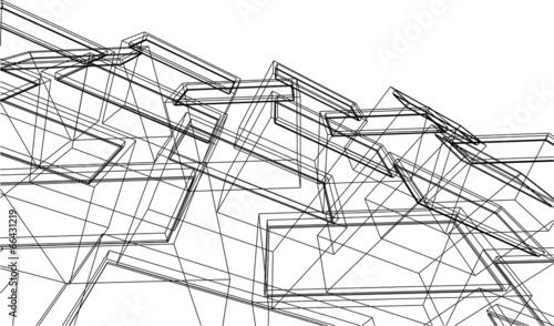 Obraz na plátně  building architecture background