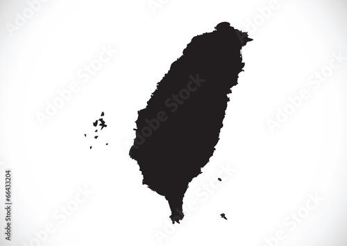 Fotografie, Obraz Taiwan map