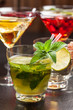 Party cocktails and longdrinks for summer